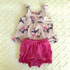 Tea brand tank and bloomer outfit
